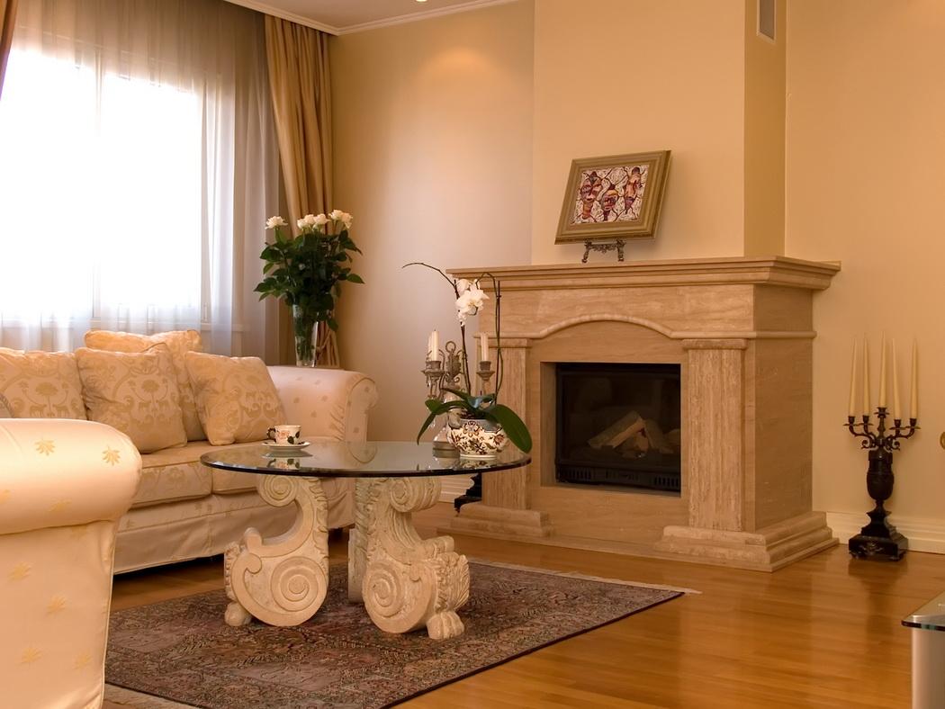 Камин своими руками в гостиной фото